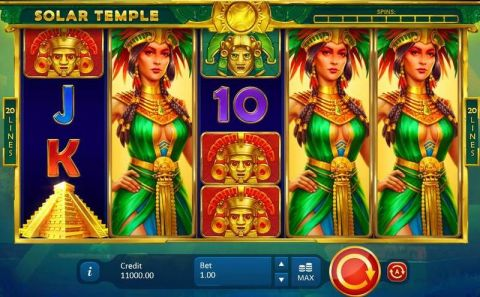 Solar Temple Fun Slots by Playson with 5 Reel and 20 Line