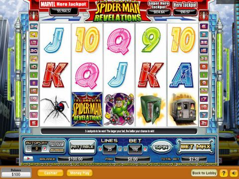 Spider-Man Fun Slots by NeoGames with 5 Reel and 25 Line