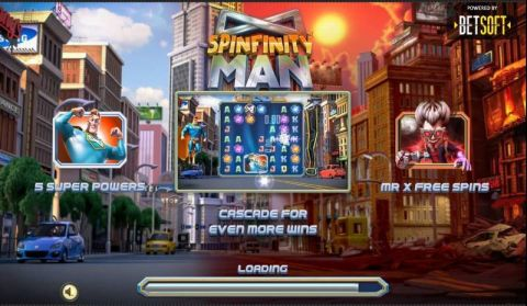 Spinfinity Man Fun Slots by BetSoft with 7 Reel and