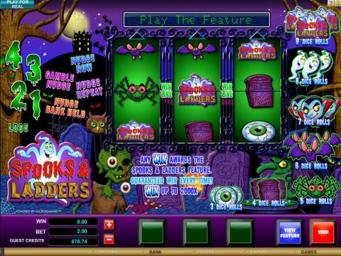 Spooks and Ladders Fun Slots by Microgaming with 3 Reel and 1 Line