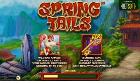 Spring Tails Fun Slots by BetSoft with 5 Reel and 5 Line
