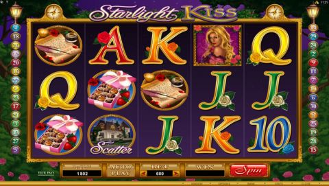 Starlight Kiss Fun Slots by Microgaming with 5 Reel and 30 Line