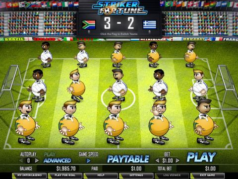 Striker Fortune Fun Slots by PartyGaming with 5 Reel and 50 Line