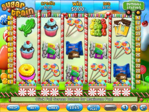 Sugar Train Fun Slots by Eyecon with 5 Reel and 25 Line