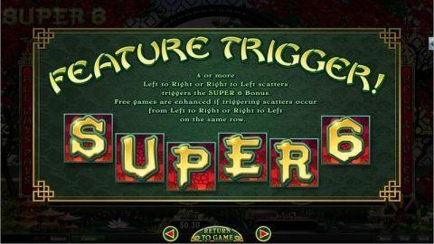 Super 6 Fun Slots by RTG with 6 Reel and 729 Line
