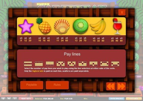 Super Caribbean Cashpot Fun Slots by 1x2 Gaming with 5 Reel and 9 Line