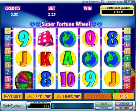 Super Fortune Wheel Fun Slots by bwin.party with 5 Reel and 9 Line
