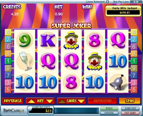 Super Joker Fun Slots by bwin.party with 5 Reel and 9 Line