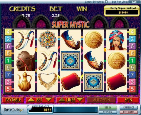 Super Mystic Fun Slots by bwin.party with 5 Reel and 9 Line
