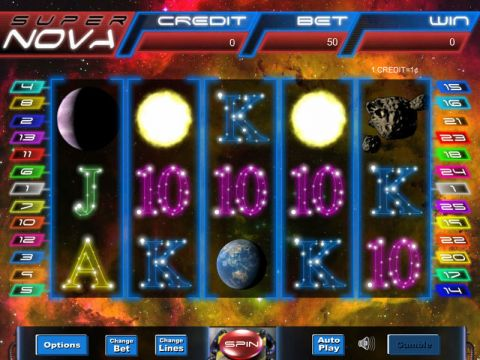 Super Nova Fun Slots by Eyecon with 5 Reel and 25 Line