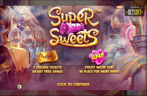 Super sweets Fun Slots by BetSoft with 5 Reel and 10 Line