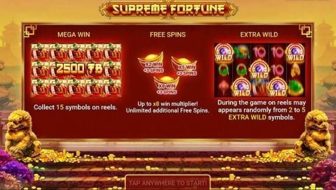Supreme Fortune Fun Slots by Booongo with 5 Reel and 20 Line