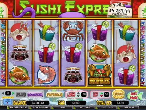 Sushi Express Fun Slots by CryptoLogic with 5 Reel and 30 Line