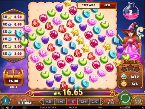 Sweet Alchemy Fun Slots by Play'n GO with 5 Reel and