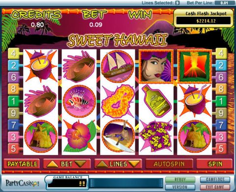 Sweet Hawaii Fun Slots by bwin.party with 5 Reel and 9 Line