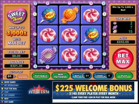Sweet Thing Fun Slots by CryptoLogic with 9 Reel and 8 Line
