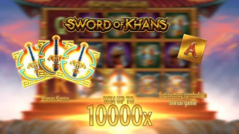 Sword of Khans Fun Slots by Thunderkick with 5 Reel and 10 Line