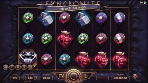 Syncronite Fun Slots by Yggdrasil with 6 Reel and 21168 Way