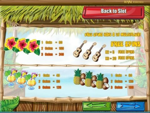 Tahiti Time Fun Slots by Rival with 3 Reel and 1 Line