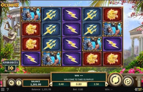 Take Olympus Fun Slots by BetSoft with 5 Reel and 50 Line