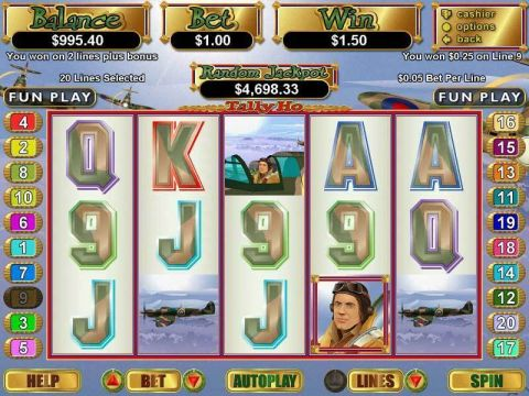 Tally Ho Fun Slots by RTG with 5 Reel and 20 Line