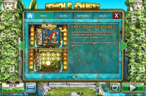 Temple Quest Spinfinity Fun Slots by Big Time Gaming with 5 Reel and 40 Line