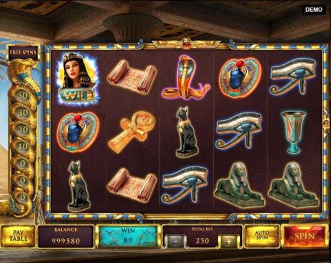 The Asp of Cleopatra Fun Slots by Red Rake Gaming with 5 Reel and 25 Line