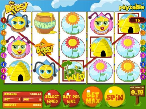 The Bees Fun Slots by BetSoft with 5 Reel and 9 Line