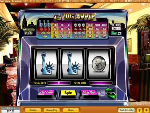 The Big Apple Fun Slots by NeoGames with 3 Reel and 1 Line
