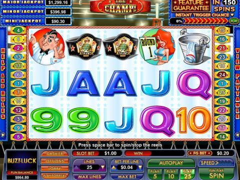 The Champ Fun Slots by NuWorks with 5 Reel and 25 Line
