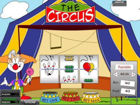 The Circus Fun Slots by DGS with 3 Reel and 1 Line