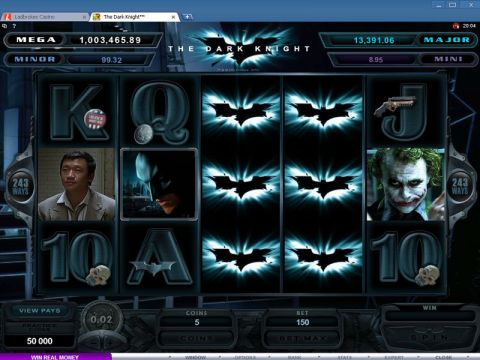 The Dark Knight Fun Slots by Microgaming with 5 Reel and 243 Line