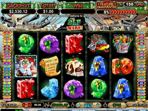The Elf Wars Fun Slots by RTG with 5 Reel and 50 Line