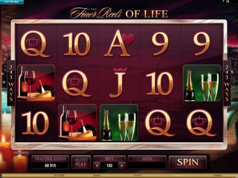 The Finer Reels of Life Fun Slots by Microgaming with 5 Reel and 243 Line