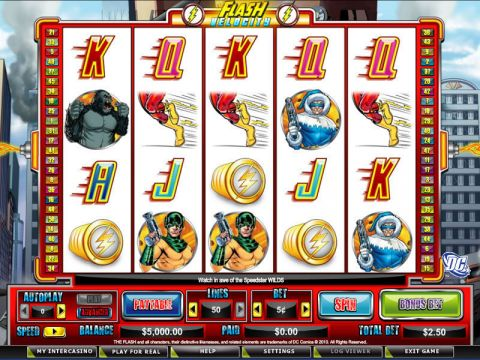 The Flash Velocity Fun Slots by CryptoLogic with 5 Reel and 50 Line