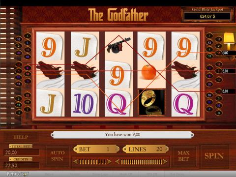 The Godfather Fun Slots by bwin.party with 5 Reel and 20 Line