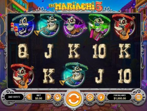 The Mariachi 5 Fun Slots by RTG with 5 Reel and 243 Line