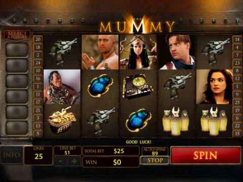 The Mummy Fun Slots by PlayTech with 5 Reel and 25 Line