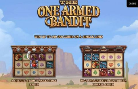 The One Armed Bandit Fun Slots by Yggdrasil with 5 Reel and 20 Line