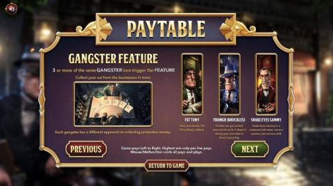 The Slotfather Part ll Fun Slots by BetSoft with 5 Reel and 243 Line
