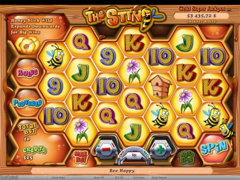 The Sting Fun Slots by bwin.party with 7 Reel and 100000 Way
