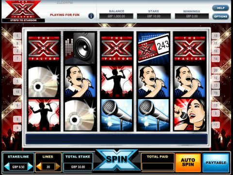 The X Factor Fun Slots by iGlobal Media with 5 Reel and 9 Line