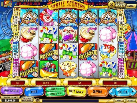 Thrill Seekers Fun Slots by PlayTech with 5 Reel and 50 Line