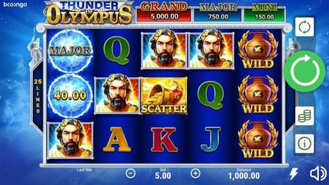 Thunder of Olympus Fun Slots by Booongo with 5 Reel and 25 Line