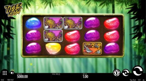 Tiger Rush Fun Slots by Thunderkick with 5 Reel and 10 Line