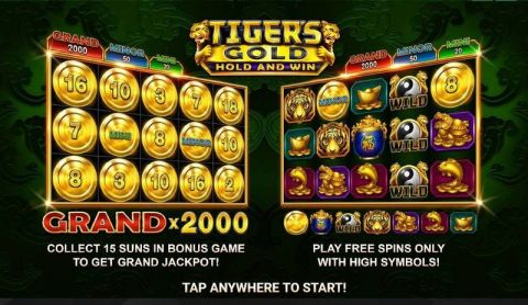 Tiger's Gold: Hold and Win Fun Slots by Booongo with 5 Reel and 25 Line