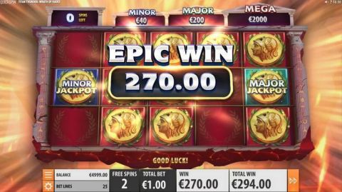 Titan Thunder Wrath of Hades Fun Slots by Quickspin with 5 Reel and 25 Line
