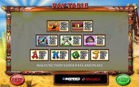 Totem Treasures Fun Slots by Inspired with 5 Reel and 20 Line