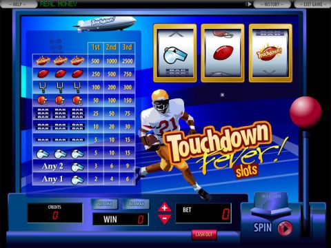 Touchdown Fever Fun Slots by DGS with 3 Reel and 1 Line