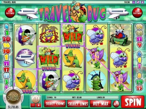Travel Bug Fun Slots by Rival with 5 Reel and 20 Line